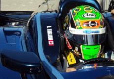Alex Tagliani Indycar BHA Bryan Herta Autosport Helmet cropped
