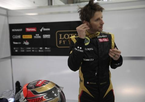 Romain Grosjean Lotus F1 Team