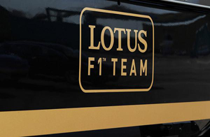 Lotus F1 Team old logo on truck