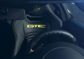 Evora GTE interior black & yellow