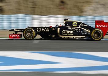 Kimi Raikkonen E20 Lotus F1 Team