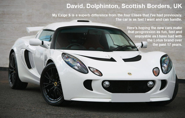 exige owner daviddarlingwhite